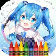 coloring anime and manga
