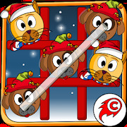 Cat Dog Toe Christmas  Tic Tac Toe Xmas Game