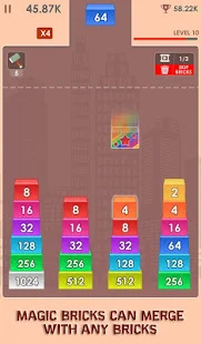 2048 Merge Bricks - Number Puzzle - 2048 Solitaire Screenshot