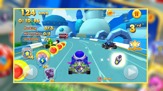 Tag with mask racing rush  Challenge the super kid Screenshot