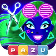 Girls Hair Salon Glow- Hair makeover game for kids