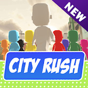 City Rush  running men & crowd