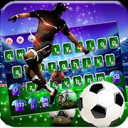 Football Superstar Glitter Keyboard Theme