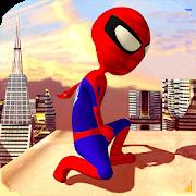 Spider Stickman Rope Hero:Superhero Crime City War