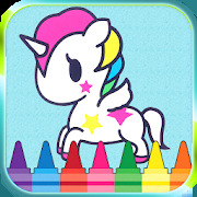 Unicorno Colouring Book and Game for kids