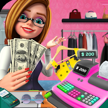 Shopping Mall Girl Cashier Game