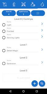 D20 - Dnd 5th Character Sheet Screenshot