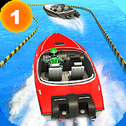 Speed Boat Stunts: Water Surfer Racing Games