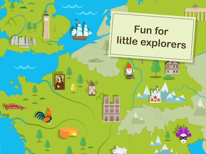 Kids Atlas Game - Puzzle World Screenshot