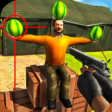 Watermelon shooting game 3D
