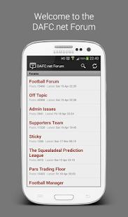 DAFC.net Forum Screenshot