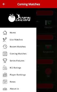 Live Cricket Scores & Updates -Total Cricinfo Screenshot