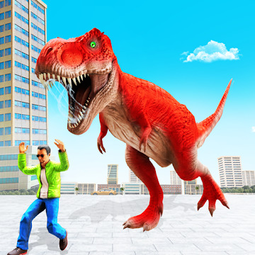 Angry Dino Attack City Rampage: Wild Animal Games