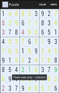 Sudoku Hint Free Screenshot