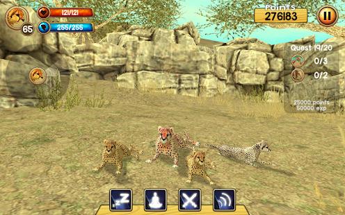 Wild Cheetah Sim 3D Screenshot