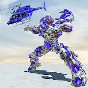 Air Robot Transform Helicopter Robot Battle War