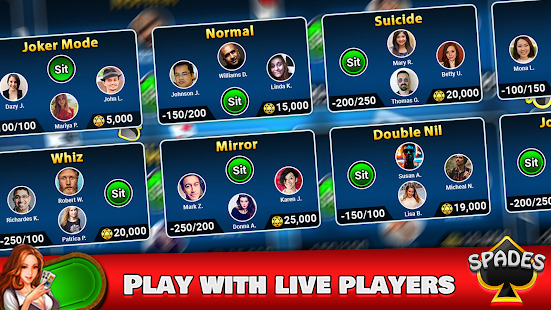 Spades Free - Multiplayer Online Card Game Screenshot
