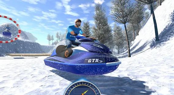 Snow Mountain Boat Bike Racing 2019 - Snow Boat Screenshot