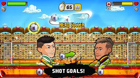 Head To Head: Head Ball Challenge Soccer Heads Screenshot