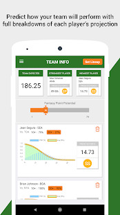 Baseball DFS Predictor Screenshot