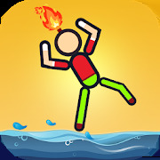 Stickman On Fire : Stickman Games Fun Physics