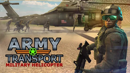Real Army Helicopter Simulator Transport Games Screenshot