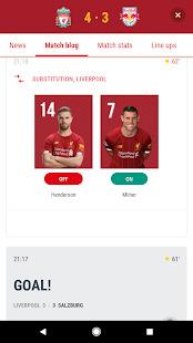 The Official Liverpool FC App Screenshot
