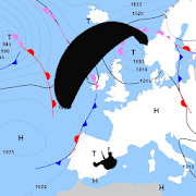Surface Pressure Charts for Paragliders - Europe