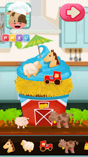 Cupcakes cooking and baking games for kids Screenshot