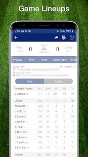 Baseball MLB Live Scores Stats & Schedules 2020 Screenshot