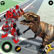 Wild Dinosaur Rampage : Flying Robot Shooting Game