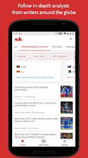 SK Sports App: Get Live Scores & Wrestling News Screenshot