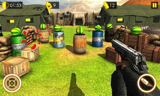 Watermelon shooting game 3D Screenshot