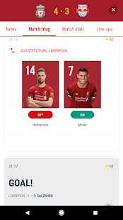 The Official Liverpool FC App Screenshot
