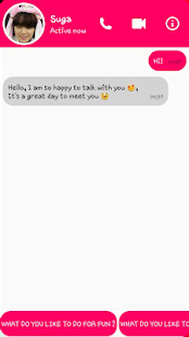 BTS Messenger 2019 Suga Screenshot