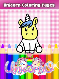 Unicorno Colouring Book and Game for kids Screenshot