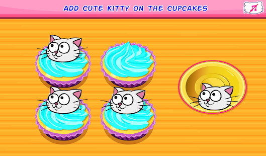 Kitty Cupcakes Cooking Games Screenshot