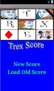 Trex Score Calculator Screenshot