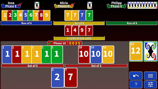 Phase Rummy 2: card game with 10 phases Screenshot