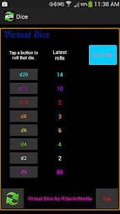 Virtual Dice D20 Screenshot