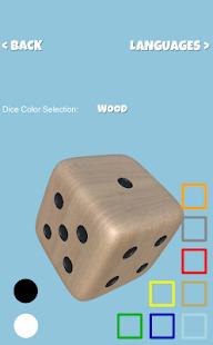 Talking Dice Roller - 3D Simulator Screenshot