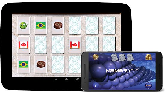 Memory match game Screenshot