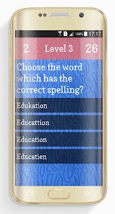 Ultimate English Spelling Quiz Screenshot