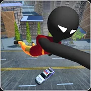 Stickman Rope Hero - Grand stickman crime mafia