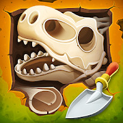 Dig up dinosaur bones: Fossil digging games