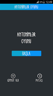 Antonimlr oyunu Screenshot
