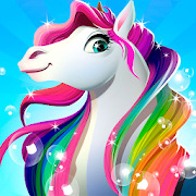 Rainbow Horse Caring  Pony Dress Up Beauty Salon