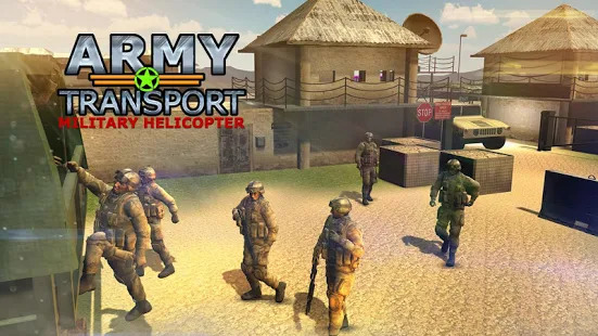 Real Army Helicopter Simulator Transporter Game Screenshot
