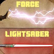 Force & lightsaber staff saber dual lightning