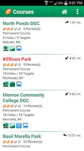 Disc Golf Course Review Screenshot